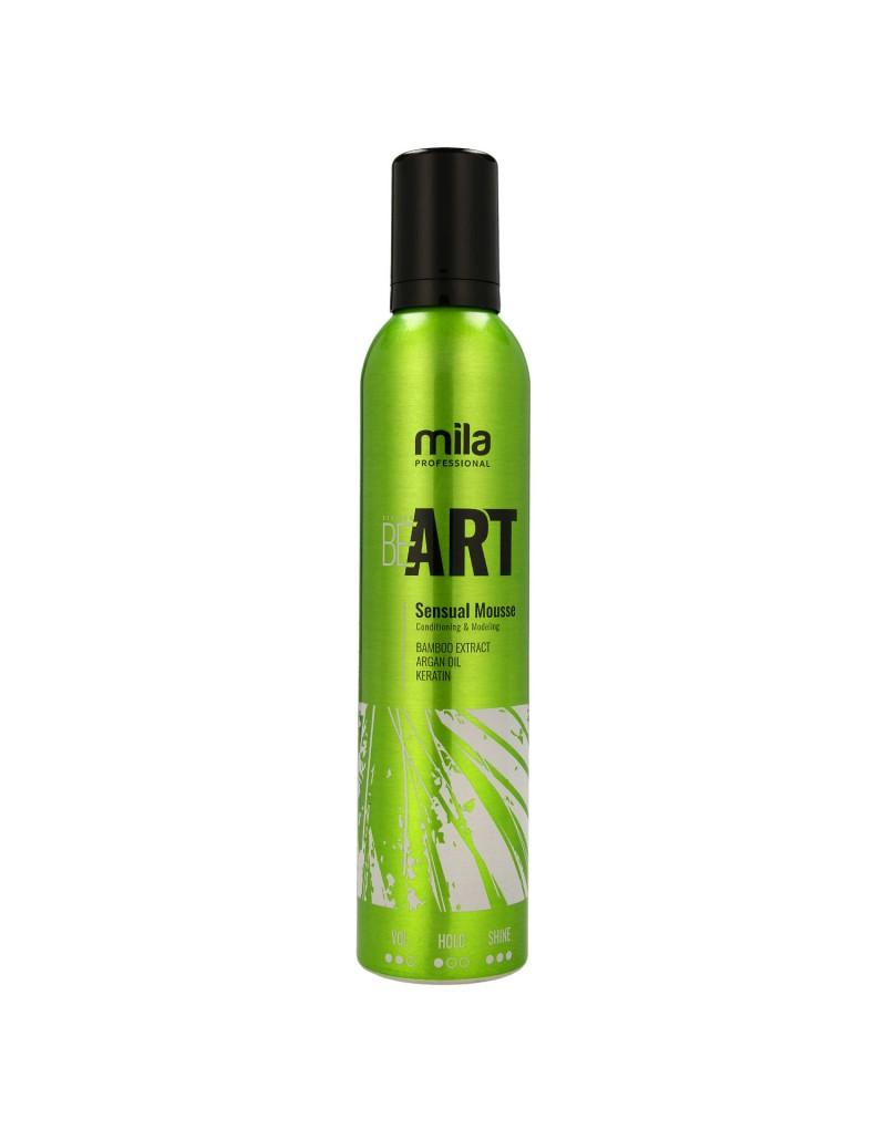 Pianka BE ART Sensual Mousse Mila Professional, Pianka odżywczo-modelująca 300 ml