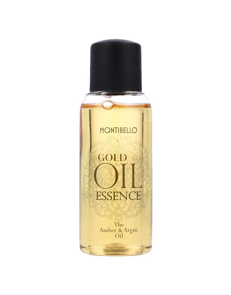 Bursztynowo - arganowy olejek do włosów 30 ml GOLD OIL Essence Montibello
