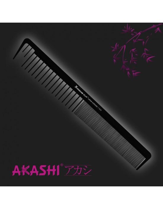 Grzebień Akashi 71839 gruby-delikatny 200mm Carbon