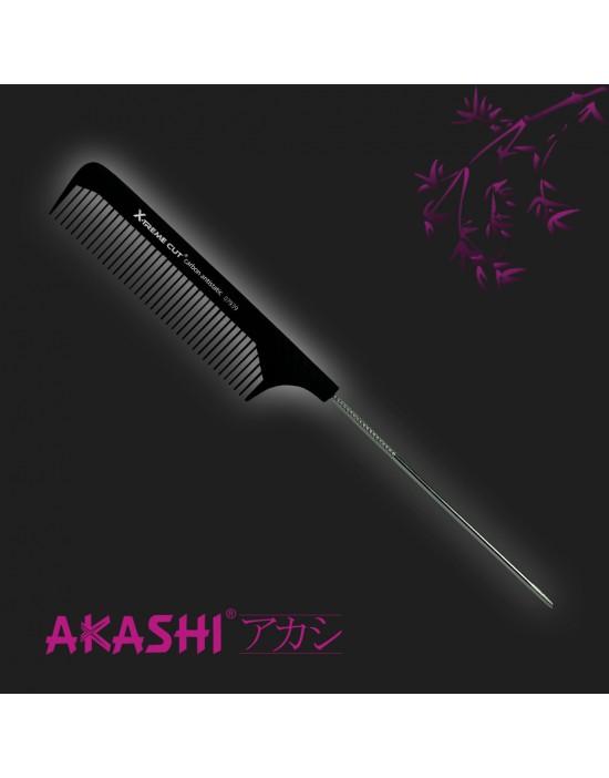 Grzebień Akashi 07939 szpilkowy 230mm Carbon