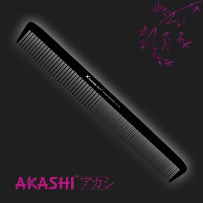 Grzebień Akashi 07739 delikatny 218mm Carbon