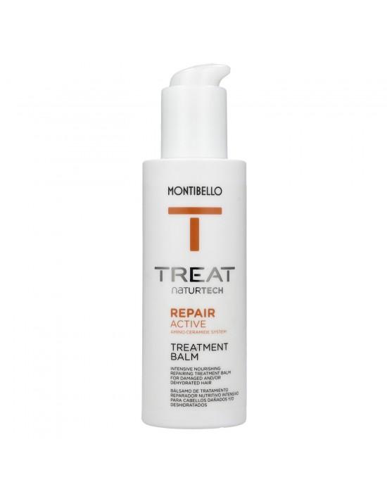 Balsam odbudowujący do włosów bez spłukiwania 150ml Treat Naturtech Repair Active Treatment Balm Montibello