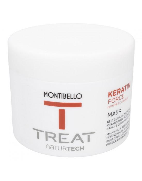 Wzmacniająca maska do włosów Treat Naturtech Keratin Force Mask Montibello 500 ml