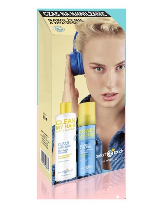 Zestaw nawilżenie Smart Touch: szampon Clean My Hair + odżywka Reset