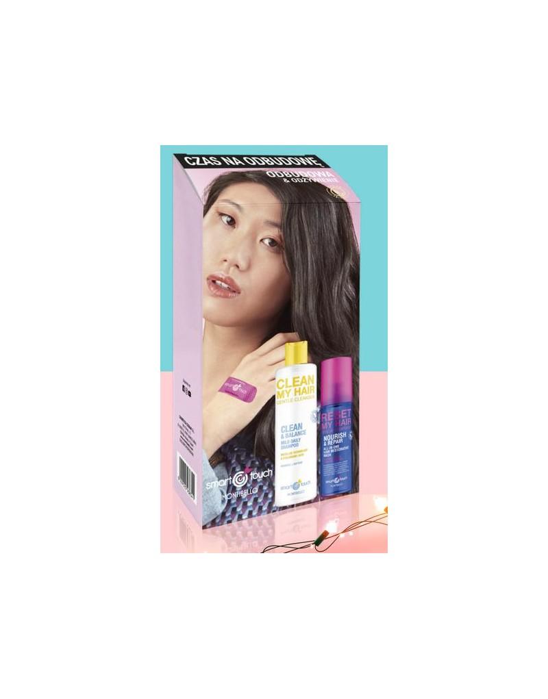 Zestaw odbudowa Smart Touch: Szampon Clean My Hair + odżywka nawilżająca Reste My Hair
