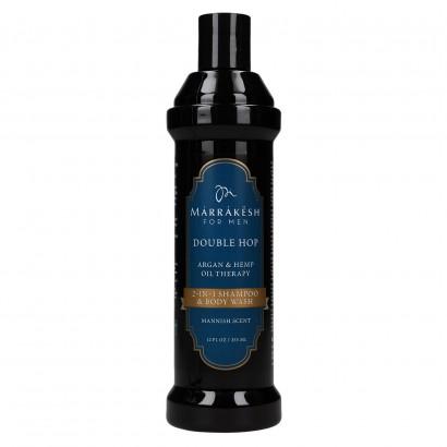 Marrakesh Double Hop, szampon do włosów i ciała dla mężczyzn 2w1 355ml