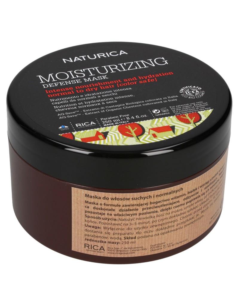 Maska Rica Moisturizing Mask, Maska odżywczo-nawilżająca, antyoksydacyjna do włosów normalnych i suchych 250 ml